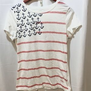 Tommy Hilfiger SM/P Womens Red White &  Blue Tee